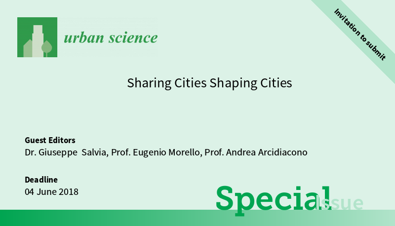 Urban Sciece - Sharing Cities Shaping Cities